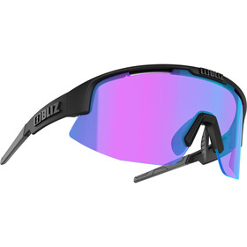 Bliz Matrix M12 Bril, matte black/violet/blue multi nordic light